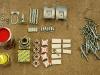 Pierwsze duże zakupy: lakiery, łożyska, uniballe, śruby i odebrane elementy po cynkowaniu.