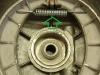 Fabryczne szczęki były wykonane z błędem - miały za mały rozstaw otworów do mocowania sprężyny - sprężyna po montażu całości była luźna. Trzeba było usunąć nadlewy i owiercić na nowo pod sprężynę od M72. Teraz sprężyna jest napięta i zapewnia prawidłową pracę hamulców.