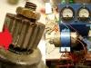 Resztki zębatki na prądnicy. Podczas testów udało się wycisnąć z prądnicy 3-4V tylko.
