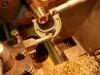 Trwają prace nad skrzynią biegów - dotaczanie tulejek z brązu B101.