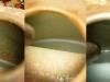 Zbiornik jest wewnątrz częściowo skorodowany. Został oczyszczony poprzez wstępna obróbkę na maszynie rotacyjnej, wytrawianie Dequestem i ponowną obróbkę na maszynie. Po odtłuszczeniu można malować wnętrze.