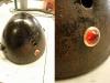 Skorupa lampy po myciu i konserwacji. Musiałem na nowo wykonać oczko kontrolki ładowania - stare było popękane.