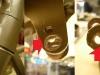 Pod chorągiewkami muszą być śruby z oszlifowanym łbem. Tu są z całym łbem i ktoś próbował dopasować na siłę chorągiewki co spowodowało wypchnięcie blachy. Na pozostałych foto stan tzw samolotu pod siedzeniem.