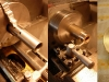 Oszlifowane lagi od K750 trzeba skrócić i podtoczyć oraz owiercić końce na wzór tych od M72. Po tych zabiegach można toczyć nowe tuleje. Górna tuleja prowadząca z rowkiem przytrzymującym olej.