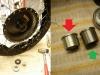 W międzyczasie składanie piast kół. Z przednim nie było wielu problemów, z tylnym tak. Standardowa tuleja dystansowa 20mm była za krótka o 4mm. Trzeba było wytoczyć customową tuleję.