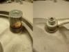 Na koniec wykonałem pierścień dystansowy do rozpieraka. Otwór w tarczy kotwicznej zatulejowałem na nowo aby zlikwidować luzy na osi rozpieraka.