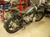Inwestor dostarczył ponownie motocykl, wstępnie złożony. Do wykończenia.