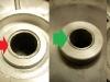 Chińska tarcza kotwiczna ma źle wykonaną tuleję stalową dystansową. Jest utopiona w deklu i o nie równej powierzchni. Trzeba dorobić nową, dłuższą o 2mm.