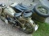 Motocykl po przejechaniu 400km trafił do mnie na serwis olejowy oraz regulacyjny i montaż wózka bocznego.