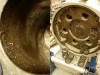 Silnik był w całości wyszkiełkowany - efekt widać na foto. Dobrze, że nie był odpalony po tym procesie.