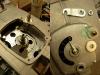 Wykonałem też dodatkowe uszczelnienie z filcu wałka wycisku - pod dekielkiem tłoczonym.