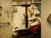 Półki mają standardowy problem - luźną dolną obsadę łożyska i owalny otwór prowadzący w górnej półce. I etapy naprawy - rozwiercanie, napawanie zupełnie nowej nakrętki...