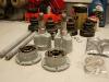 Oprawy łożysk doprowadzone do ładu, oszlifowane bieżnie simmeringów, podkład, lakier. Będzie można składać w całość.