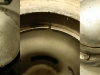 Tłok jeszcze nominalny, bardzo duży luz na zamkach pierścieni - 2mm -  i zasadniczo standardowe problemy z odkręceniem niektórych śrub które maja poomykane łby.