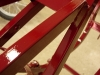 Po pracach wykończeniowych można było wylakierować ramę i kilka elementów z nią związanych.