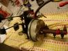 Czas na konsolę z pedałami i pompami. Pompy są do wymiany więc trzeba wypiaskować konsolę i sprawdzić stan techniczny pedałów itd.
