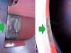 Na dole wycinka słabego miejsca i wspawanie do styku reperaturki. Przy okazji zaspawałem Tigiem otwory po śrubach plastikowego nadkola.