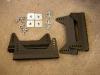 Doszły też paczki z elementami do montażu foteli i pasów. Uchwyty do foteli sa wykonane z aluminium.