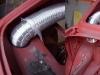 Wykonany otwór w półce do nadmuchu zimnego powietrza na gaźniki.