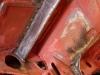 Wspawane dodatkowe zastrzały do płytek mocujących belkę zawieszenia a także wykonany od nowa fragment żebra poprzecznego (oryginalnie w tym miejscu była puszka na akumulator)