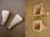 Najpierw wykonanie form i ich wyszpachlowanie, następnie wykonanie lejków do chłodzenia hamulców z żywicy z włóknem.