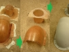 Etapy produkcji laminatowego łapacza powietrza.