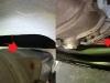 Niestety zdarzają się niewyjaśnione niespodzianki - mimo prawidłowego podwieszenia skrzyni pomiędzy rozrusznikiem a pokrywą jest 5mm. To za mało. Trzeba będzie modyfikować pokrywę.
