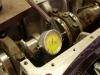 Pomiar luzu poosiowego wału. Norma to 0,03-0,1mm. Wyniki pomiaru 0,04mm