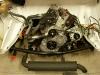 I już na miejscu. Teraz pozostała wykończeniówka - układ wydechowy, paliwowy, kolektor ssący, sterowanie gaźnikiem, rurki, rureczki itd...