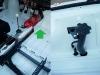 Na koniec wykonałem z aluminium ekran osłaniający rurki od strony nóg pilota. I customowy wlew paliwa.