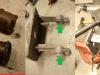 ... wymiana tulejek czyli dotoczenie nowych z ertalonu, wprasowanie, rozwiercanie pod wymiar.     /    Repair stages with gearshift lever