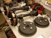 Półosie gotowe. Bębny wylakierowne farbą żaroodporną.   /   Drive axles are already complex, complex brakes. Drums painted with heat-resistant paint.