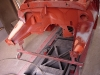Po szlifowaniu ponownie grunt reaktywny   /   After grinding anti-corrosive primer