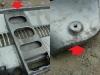 Pas tylny, wzmocnienie jest podziurawione przez korozję  /  The rear belt, reinforcement is perforated by corrosion