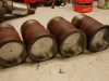 Tuleje cylindrowe po szlifie i dość ciasnym pasowaniu  /   Cylinder liners after treatment