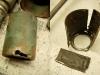 Szklanki środkowe niestety poległy podczas demontażu. Niestety oczko w szklankach nie było usytuowane przy końcówce sprężyny - a tylko w tym przypadku można odkręcić sprężynę zawieszenia - poprzez pobijanie w jej końcówkę.