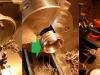 Obróbka korpusu na współczesny simmering, obróbka i roztaczanie wkrętki i toczenie widełek na podwymiarowy simmering.