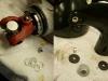Wykończeniówka. Krzyżak trzeba odpowiednio zdystansować aby miski były ściśnięte. I dorabianie elementów mocujących lampę.