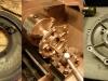Czyszczenie odrzutników oleju - tu jak zawsze jest na bogato. Roztaczanie tylnej podpory pod simmerig. Na szczęście odlew jest wykonany właściwie i wystarczyło materiału na osadzenie simmeringu.