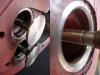 W cylindrze w którym korozja była bardzo znaczna trzeba było wstawić 2 gniazda zaworowe. W drugim cylindrze wystarczyło materiału na wyprowadzenie właściwych przylgni.