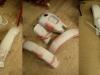 I znowu szlif i drobne korekty. Na koniec podkład finalny i szlif na mokro - już pod lakier.