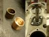 Pompa olejowa do przeglądu. Trzeba też dorobić nową tuleję podporową wałka rozrządu.