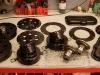 Elementy do obu silników po podkładzie i lakierze poliuretanowym.