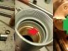 Składanie teleskopów. Pomimo wykonania tulei z kołnierzem zgodnych z oryginałem - nakrętka nie dociska tulei do goleni jak powinna. Trzeba wytoczyć dodatkowy dociskowy pierścień z brązu, o gr.2,5mm.