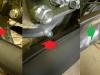 Po korekcie kształtu kolanek i ich prawidłowym ustawieniu - nic nie pasuje. Trzeba się pozbyć oryginalnych opasek. Z prawej jest zaś gruba kolizja z obudową dyfra. Trzeba modyfikować tłumik.