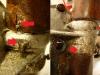 Uszkodzona szklanka osłonowa, ktoś kiedyś urwał także kalamitkę więc wywiercił otwór obok. Najgorsze są widoczne śruby, także te pourywane - świadczą o tym że poluzował się stalowy rdzeń suwaka w odlewie aluminiowym. Ogólnie ruina.