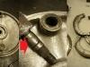 Tarcza kotwiczna do regeneracji - ktoś już napawał na rozpierak. Z 7 szczęk tylko 2 nadają się do dalszej eksploatacji po regeneracji. Reszta ma porozbijane dolne stopki z 16mm na 17mm lub więcej.