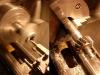 Prace obróbcze. Roztaczanie dekli prądnic pod simmeirg, obróbka bieżni simmeringów na zębatkach prądnic - wszystkie mają bicie od 0,1 do 0,2mm