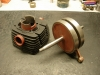Wał został zregenerowany, cylinder po szlifie został polakierowany farbą żaroodporną.