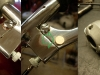Walka z linkami, Tylko linka od prędkościomierza pasowała ad hoc. Klamki w tym modelu nie mają przecięć i nie można zastosować wprost baryłkowatych zakończeń linek sprzęgła i hamulca. Do obu klamek trzeba wyprodukować odpowiednie przetyczki z brązu. Do rolgazu trzeba wytoczyć odpowiednią redukcję.